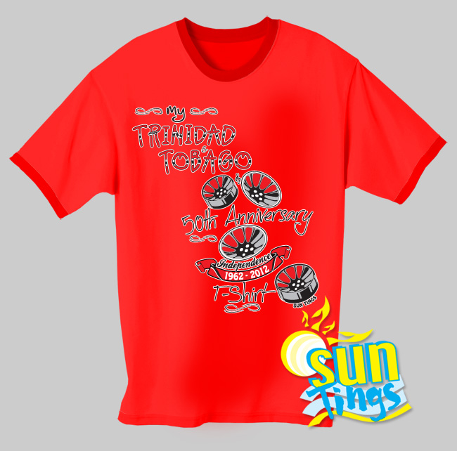 My Trinidad And Tobago 50th Anniversary Tshirt St50th002 13 00
